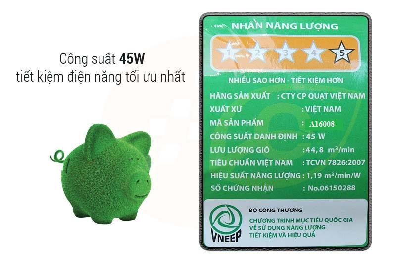 Quạt lửng Asia A16008 tiết kiệm điện